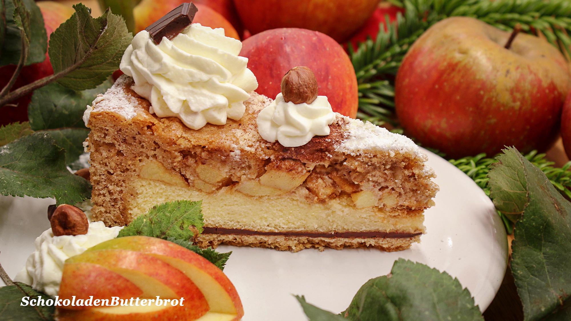 Apfeltorte mit Nüssen