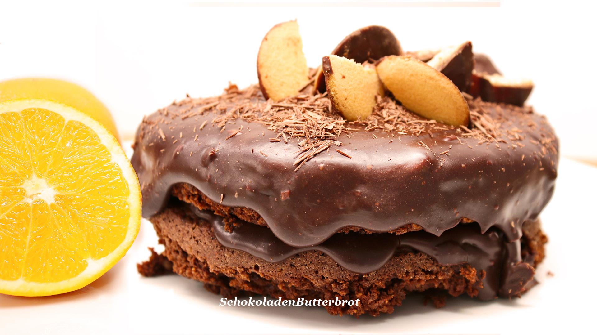 Schnelle, einfache Mini – Schokoladentorte mit Orange