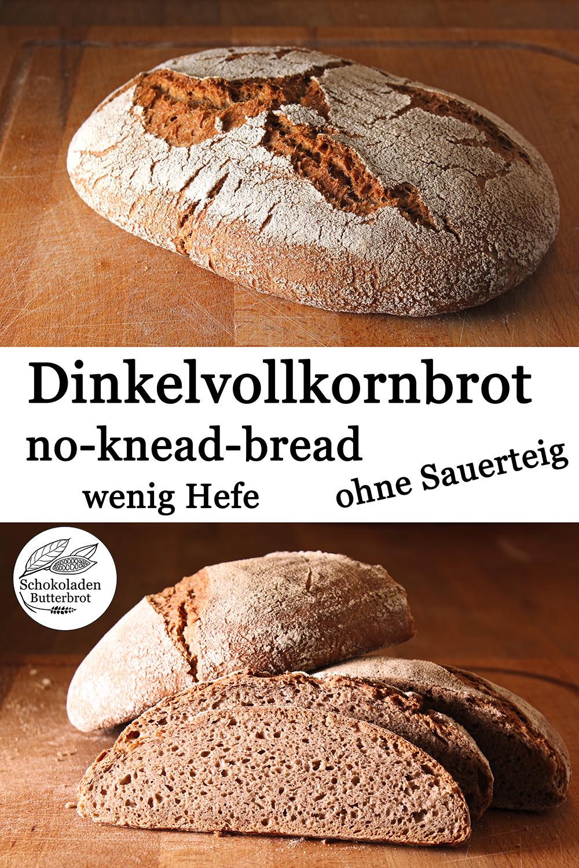 Dinkelvollkornbrot no-knead-bread